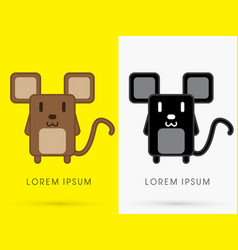 brown and black rat vector image
