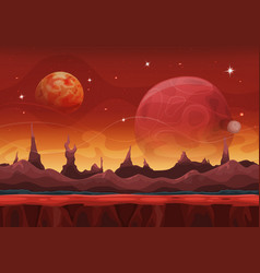fantasy sci-fi martian background for ui game vector image