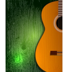 guitar poster vector image vector image