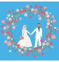 man woman couple relationship marriage in Islam vector image