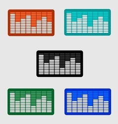 Volume control Level icon on the screen monitor vector image vector image