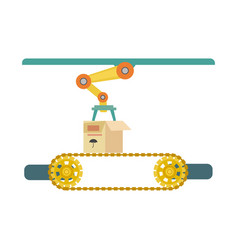 automatic production line icon vector image