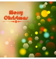 Christmas Background with Bokeh Effect vector image vector image