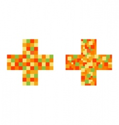 colorful crosses vector image