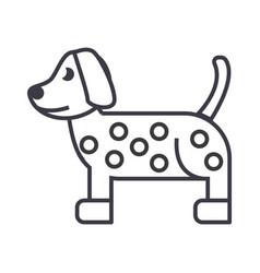 dog dalmatian line icon sign vector image vector image