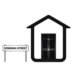 Downing Street vector image vector image