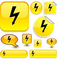 Warning yellow signs vector