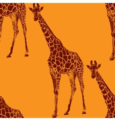 A giraffe seamless animal pattern vector
