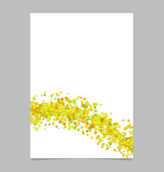 Abstract blank wavy confetti page background vector
