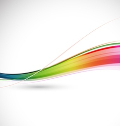 Abstract colorful flowing wave motion background vector image