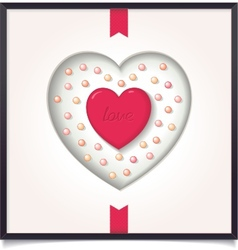 Abstract heart in picture frame vector