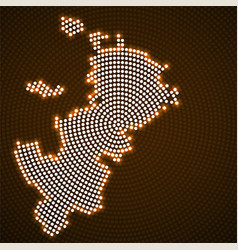 Abstract map moscow glowing radial dots vector