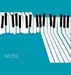 abstract music background white piano keys on vector image