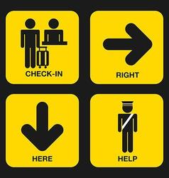 Airport design vector