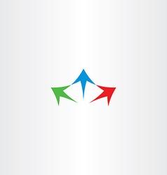 Arrows spread logo icon sign vector