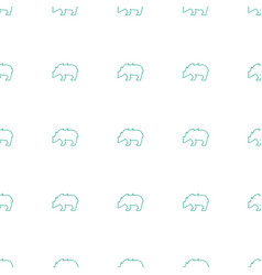 bear icon pattern seamless white background vector image