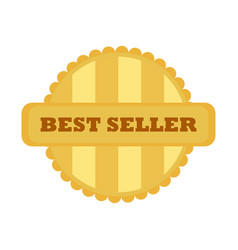 best seller gold vintage badge emblem graphic vector image