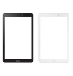 black and white tablet mock up vector image