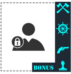 block user icon flat vector image