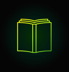 book simple green icon vector image