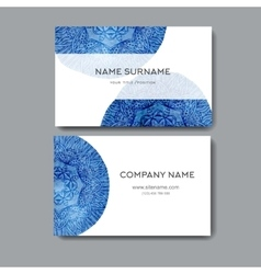 Business cards with watercolor background Design vector image