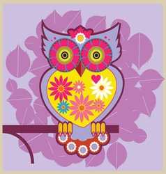 cartoon owl queen vector image