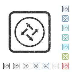 Centrifugal arrows icon rubber watermark vector