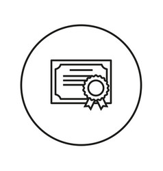 Certificate icon line vector