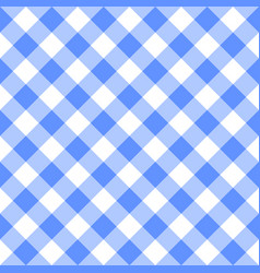 checkered blue and white plaid seamless pattern vector image