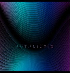 dark blue and purple refracted waves abstract tech vector image