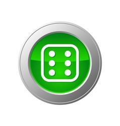 Dice button vector
