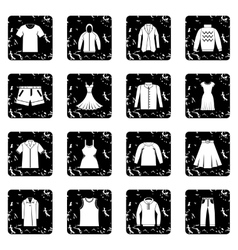 Different clothes icons set vector
