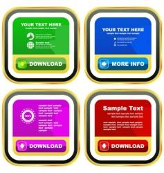 download banner set vector image