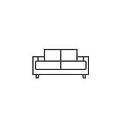 Dual recliner line icon sign vector