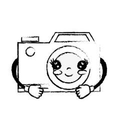 figure kawaii cute happy digital camera vector image