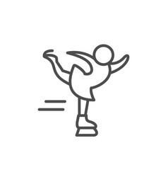 Figure skating line outline icon vector
