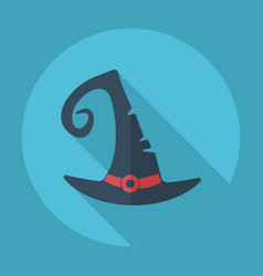 Flat modern design with shadow witch hat vector