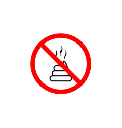 forbidden shit icon can be used for web logo vector image