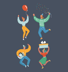 friends having fun at a birthday party vector image