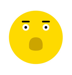 frightened smiley icon vector image