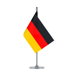 german flag hanging on the metallic pole vector image