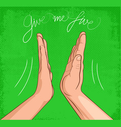 Give me five vector