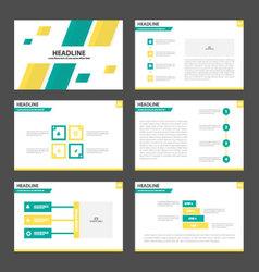 Green yellow presentation templates Infographic vector