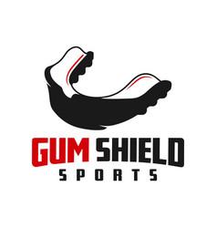 Gum shield sports logo vector