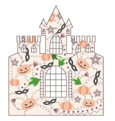 Halloween castle vintage vector