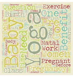 How does prenatal yoga benefit an expectant mother vector