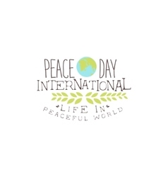 International Peace Day Label Designs In Pastel vector image