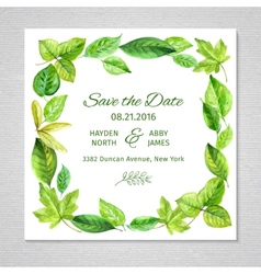 Invitation to the wedding Frame of watercolor vector