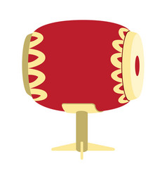 isolated asian style drum vector image