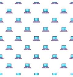 Laptop pattern cartoon style vector